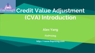 Credit Value Adjustment (CVA) Introduction