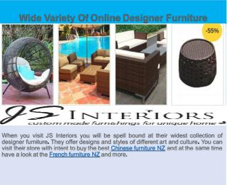 Enhance The Uniqueness of Home With Custom Furniture NZ By JS Interiors