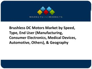 Brushless DC Motors Market Company Profiles Analysis and Forecasts to 2021