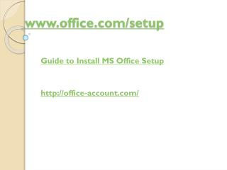 Guide to Install MS Office Setup