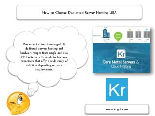 How to Choose Dedicated Server Hosting USA
