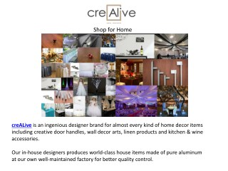 An introduction to Crealive USA – Shop for Home