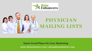 Physician Mailing Lists | Physician Email Database | Physician Email List