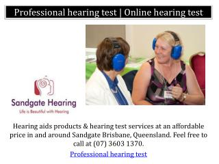 Professional hearing test | Online hearing test