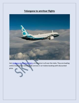 telangana to amritsar flights