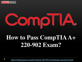CompTIA A  220-902 Questions Answers Dumps