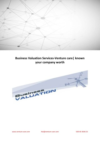 Business Valuation Services-Venture care| known your company worth