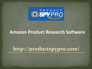 Amazon Product Research Software