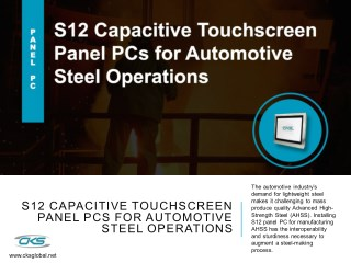 S12 Capacitive Touchscreen Panel PCs for Automotive Steel Operations