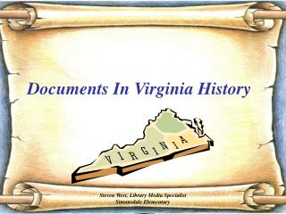 Documents In Virginia History