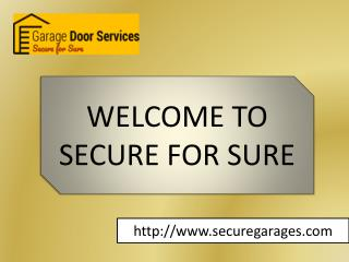 Garage door service Blawenburg