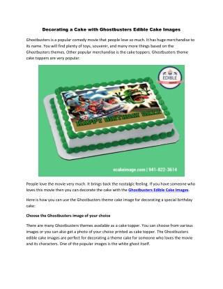 Ghostbusters Edible Cake Images | Edible Cake Image | Edible Printed Cake Images