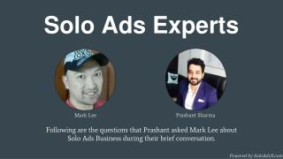 Solo Ads Expert Interview: Mark Lee