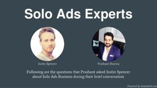 Solo Ads Expert Interview: Justin Spencer