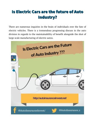 What is the future of electric cars?