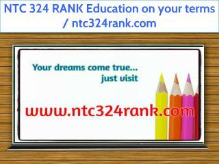 NTC 324 RANK Education Technician / ntc324rank.com