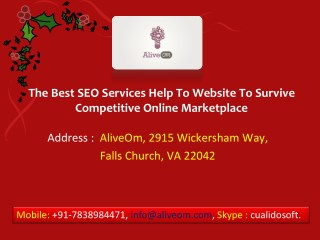 The Best SEO Services Help To Website To Survive Competitive Online Marketplace