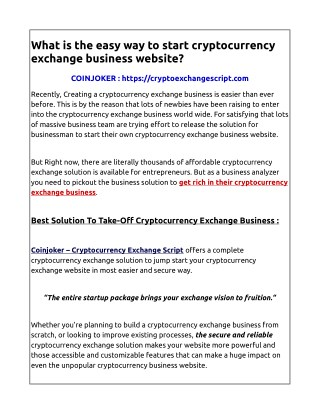 Cryptocurrency exchange script|Coinjoker