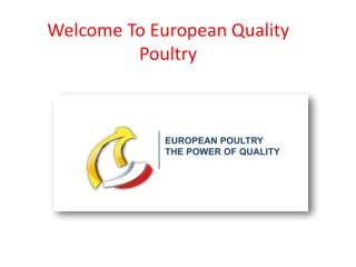 European poultry imports-The power of quality - European poultry
