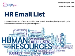 HR Email List | HR Manager Contact List | CHRO Mailing List