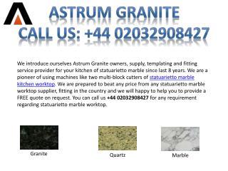 Best Statuarietto Marble Kitchen Worktop for Your Home