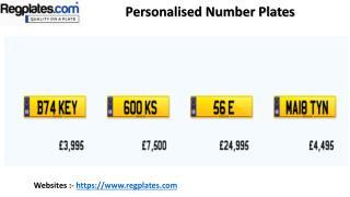 Personalised Number Plates - Reg Plates