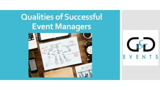 Qualities of Successful Event Managers