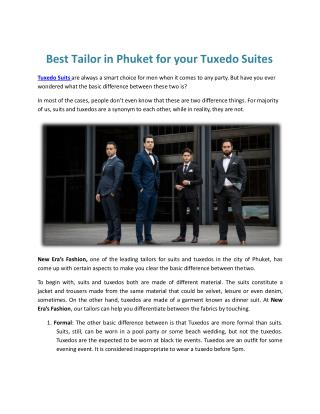 Tuxedo or Wholesale suits makers in Phuket