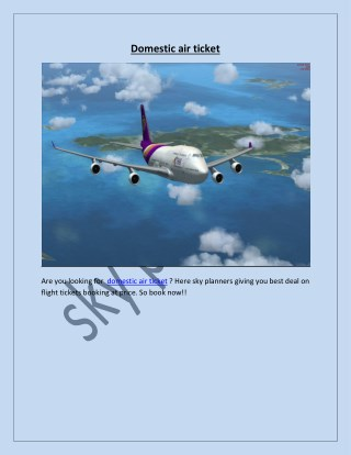 domestic air ticket