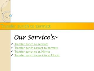 Zurich Airport Taxi - Book Online Now - transfer-service-ch.com