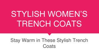 10 Best Trench Coats for Women
