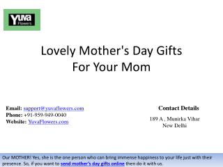 Lovely Mother's Day Gifts For Your Mom