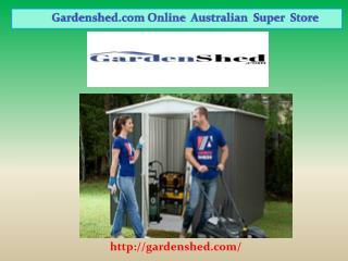Garden Sheds, Absco Sheds, Timber Sheds Online | Gardenshed.com
