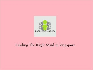 Search Maids in Singapore