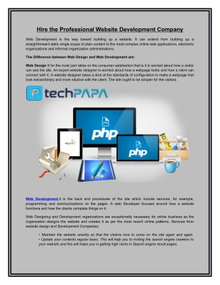 Web Development | Best Website Design Company-techpapa