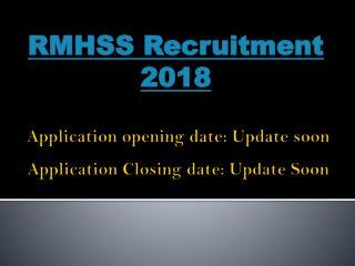 RMHSS Recruitment 2018