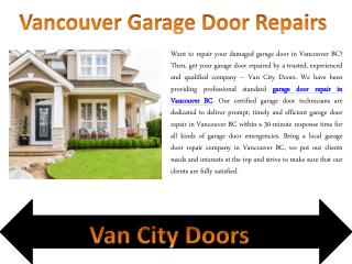 Vancouver Garage Door Repairs