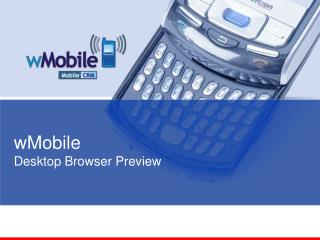 wMobile Desktop Browser Preview