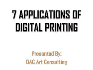 7 Applications of Digital Printing