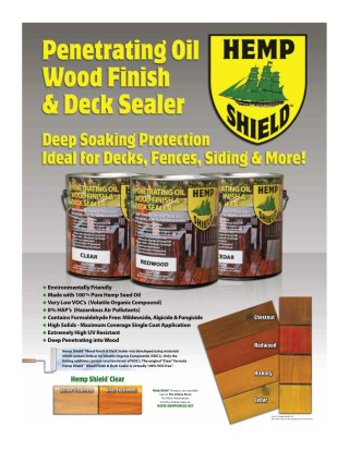 Hemp Shield Deck Stains and Sealer Wood Finish Products