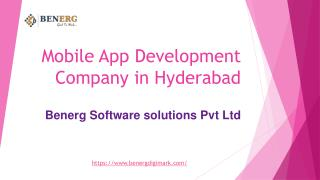 Android & IOS Mobile app development company in Hyderabad | Benerg