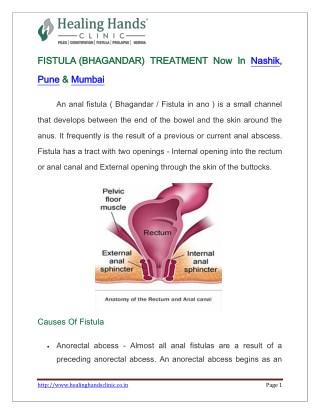 FISTULA TREATMENT Now In Nashik, Pune & Mumbai