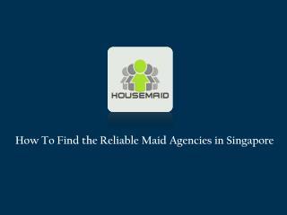 Domestic Maid Services