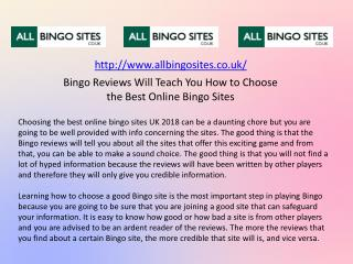 Bingo Reviews Will Teach You How to Choose the Best Online Bingo Sites