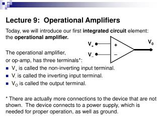 Lecture 9:  Operational Amplifiers