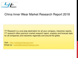 China Inner Wear Market Research Report 2018