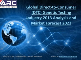 Direct-to-Consumer (DTC) Genetic Testing Market - Current Trends and Future Growth Opportunities