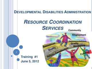 Developmental Disabilities Administration Resource Coordination Services