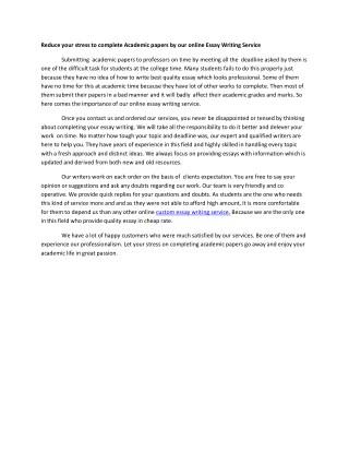 custom essay writing service