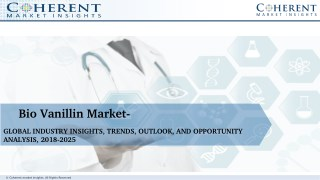 Bio Vanillin Market - Global Industry Insights, Trends, Outlook, and Opportunity Analysis, 2018-2025